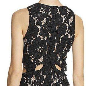 Wayf Dresses - WAYF Lace Overlay Cutout Party Dress